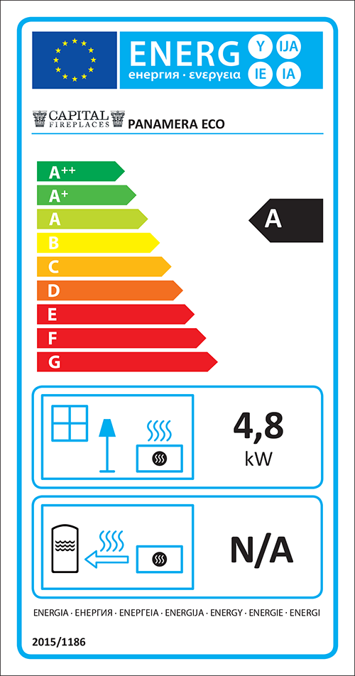 Panamera ECO Stove Energy Label