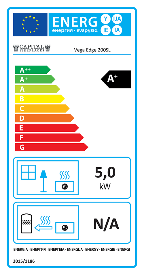 Vega Edge 200SL ECO Stove Energy Label